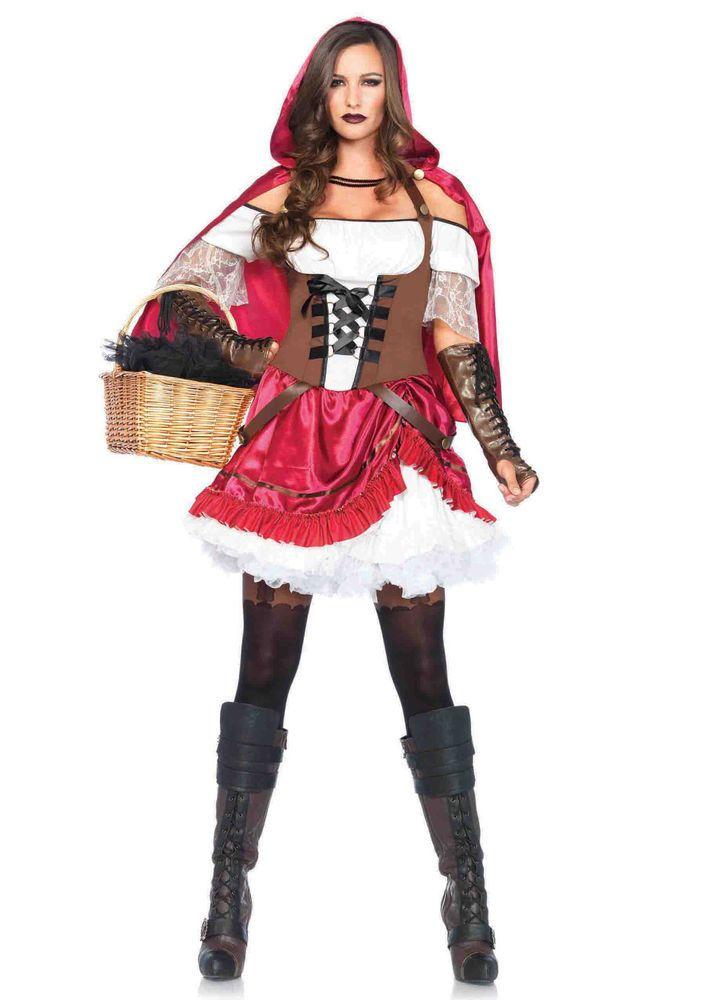 New Leg Avenue 85445 Rebel Riding Hood Female Adult Costume  #LegAvenue