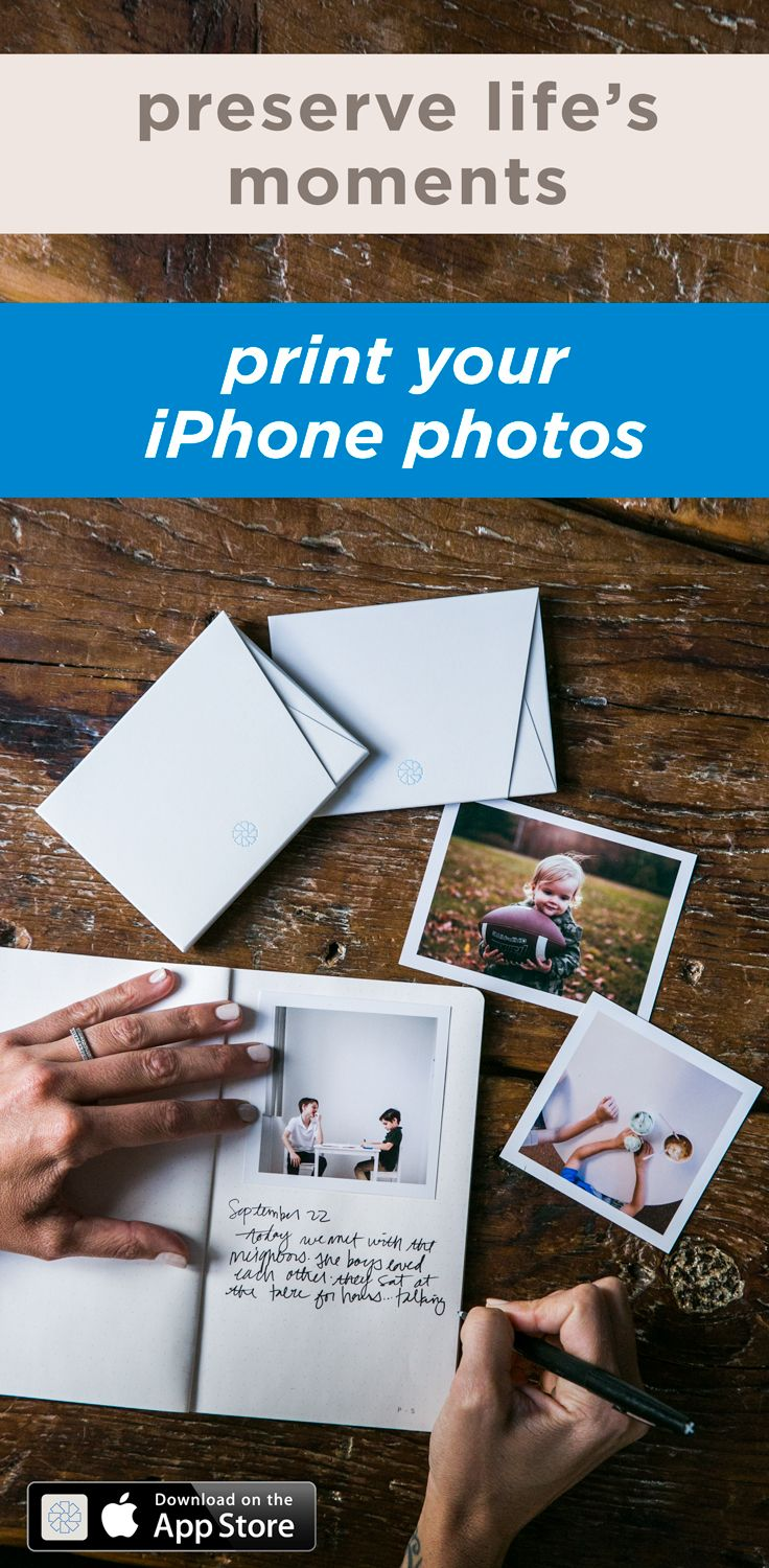 The perfect way to hold on to memories. Use the timeshel app to receive beautiful prints straight from your iPhone to your door, starting at $5.95 per month - shipping included!