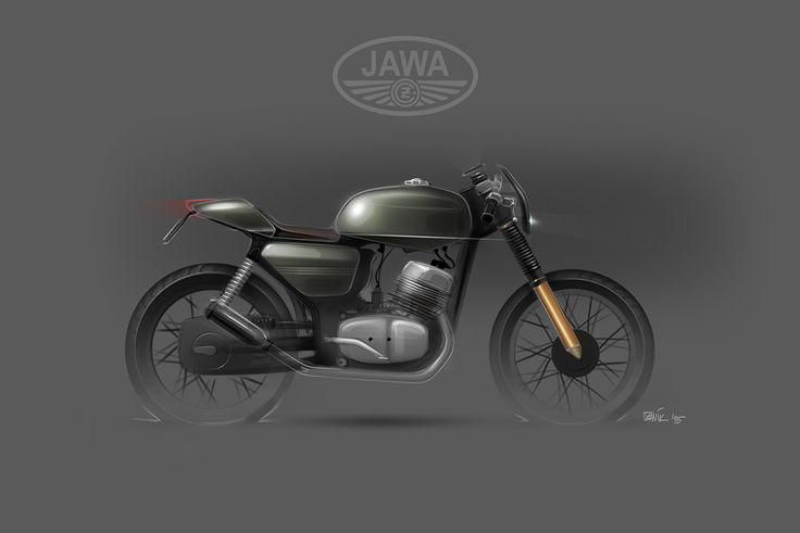 JAWA 350 / 634 - custom sketches on Behance