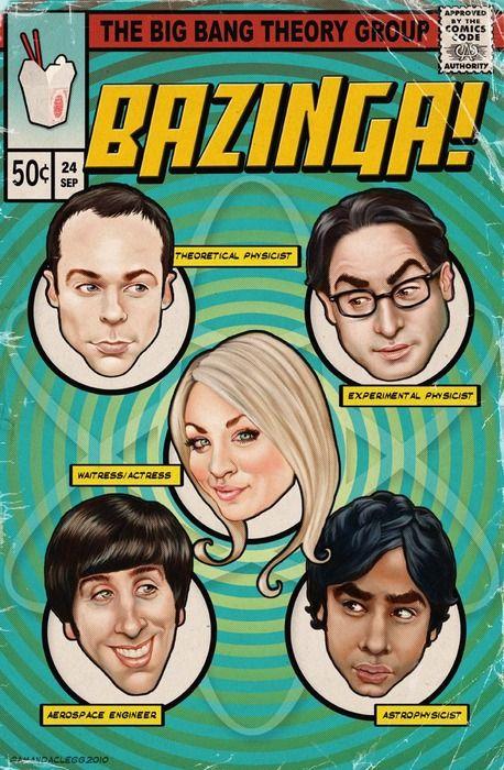 The Big Bang Theory Comic - Bazinga!