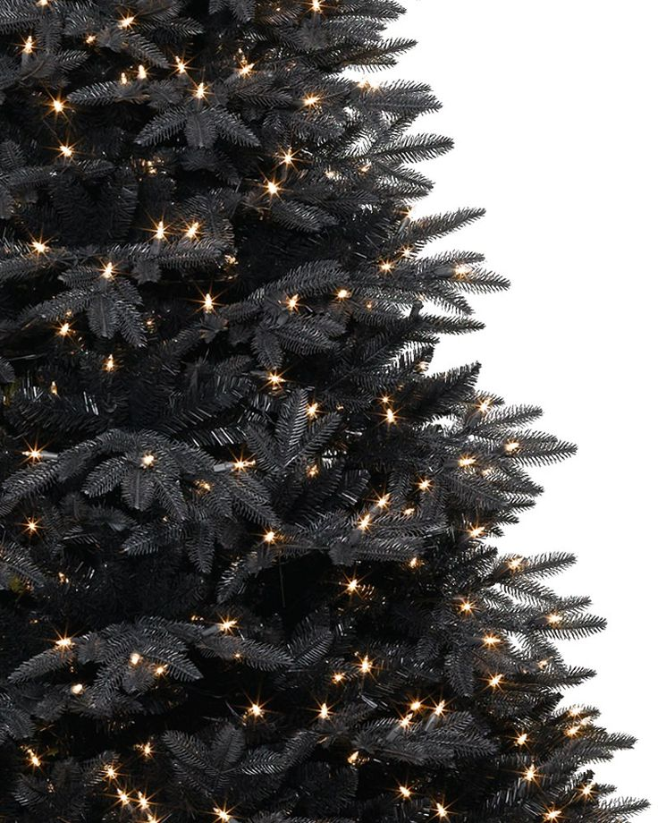 The two toned needles definitely make this stand out from the crowd. Midnight Black Christmas Tree   Treetopia
