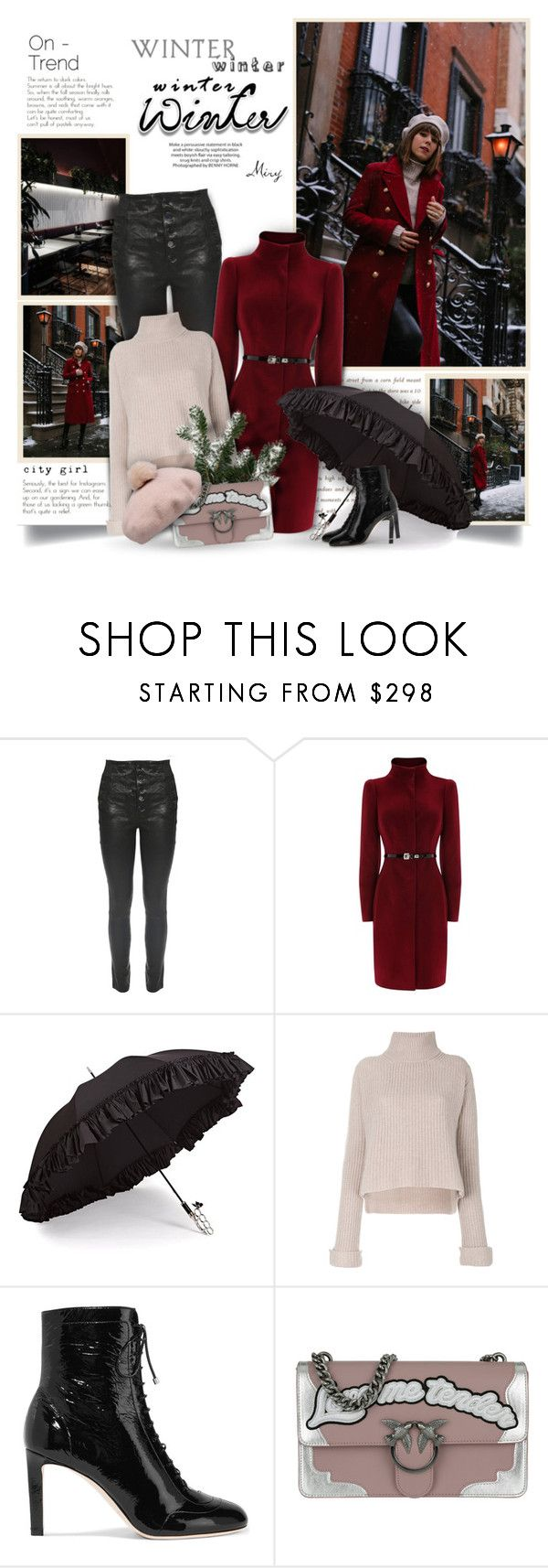"""""""On-Trend"""" by thewondersoffashion ❤ liked on Polyvore featuring J Brand, Coast, Gizelle Renee, Forte Forte, Jimmy Choo and Pinko"""
