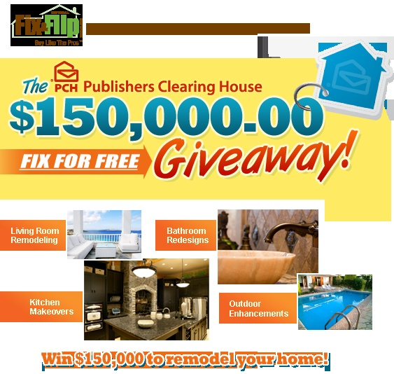 home giveaway sweepstakes the pch publishers clearing house is organizing the fix 9504