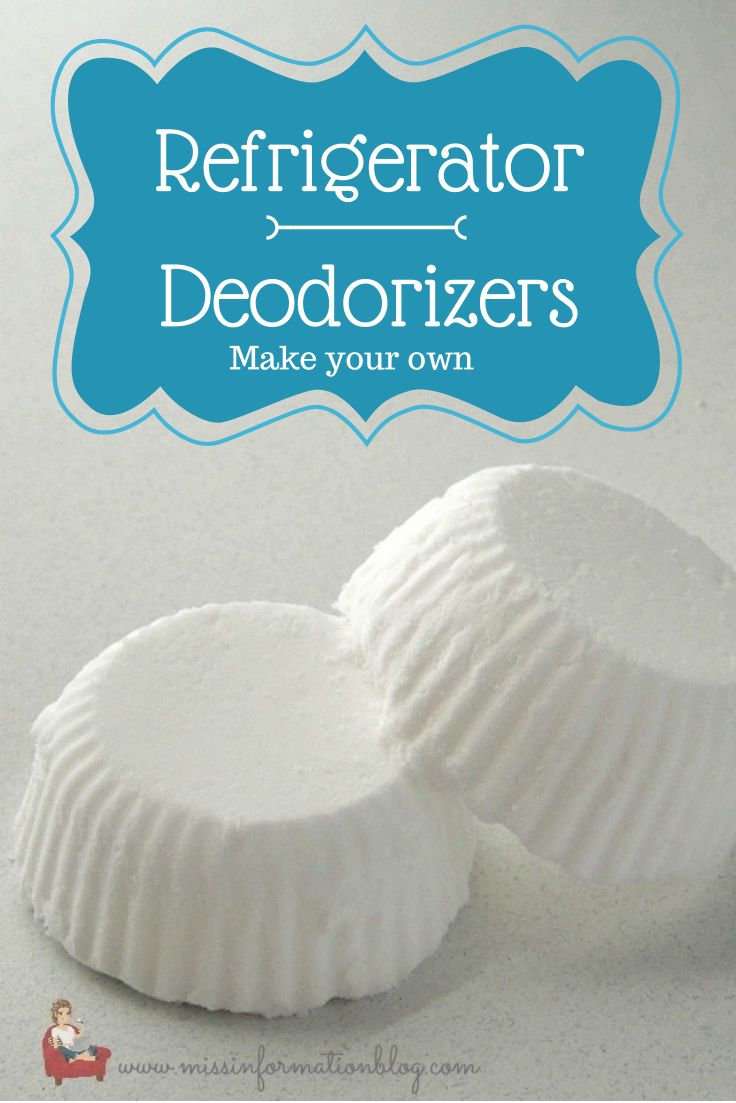 How to Make Natural Deodorizers - using baking soda, water and essential oils. When dry, place in the refrigerator, bathroom, closets, etc. - via Miss Information