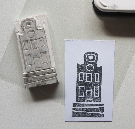 handgemaakt rubber stempel gum stempel door makeartbehappyshop