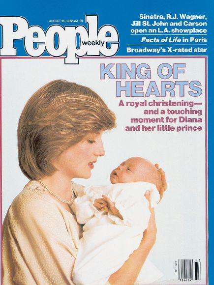 "10 of Princess Diana's Best-Remembered PEOPLE Covers | AUGUST 1982: A PRINCE'S DEBUT | Two months following his birth, Prince William was christened in the Music Room of Buckingham Palace. He was young and the ceremony was brief, but it impressed the Queen, who later joked that her grandson showed stage presence: ""He's a good speechmaker."""