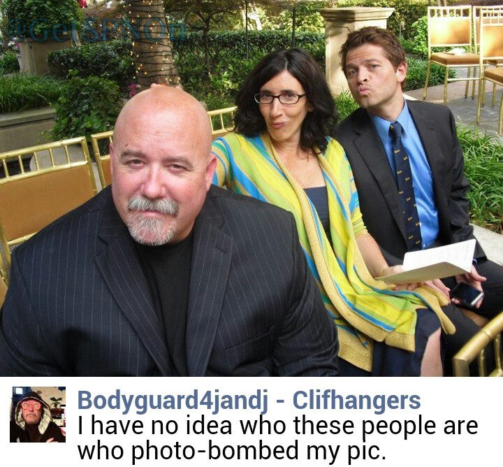 Photo of Cliff Kosterman with Misha Collins and his wife Victoria Vantoch - #SpnFamily #SpnTweets #SPN