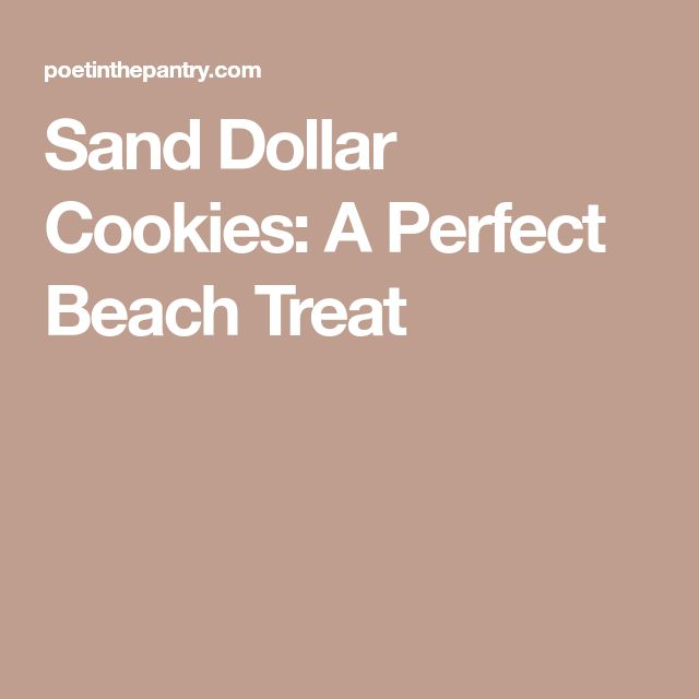 Sand Dollar Cookies: A Perfect Beach Treat