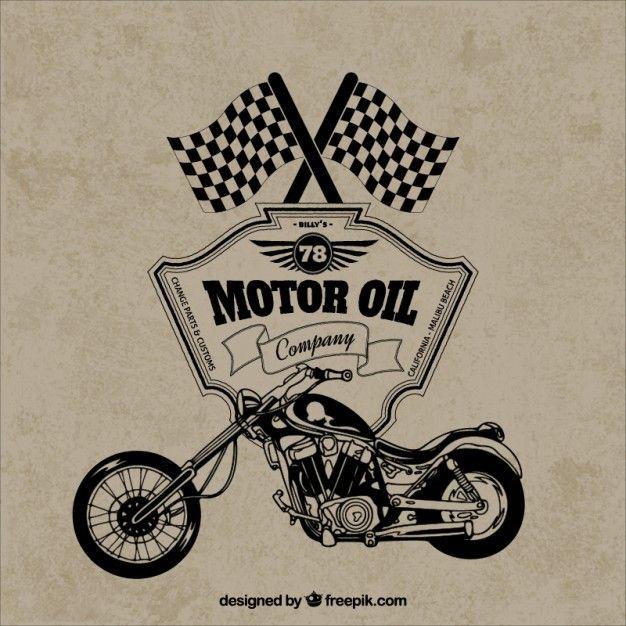 Free vector Retro motorcycle badge #10003