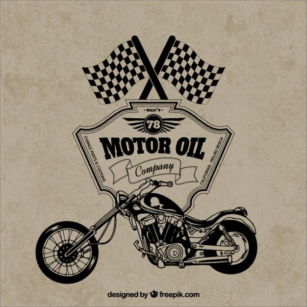 Free vector Retro motorcycle badge #10003