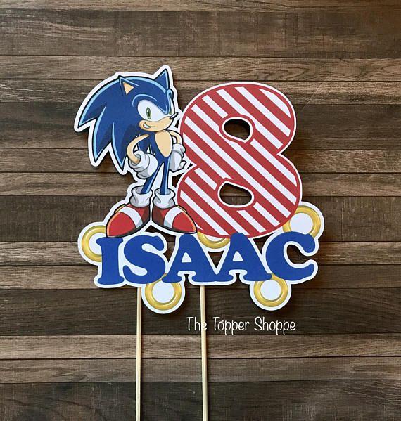 SONIC the Hedgehog personalizado de la torta / centro de mesa