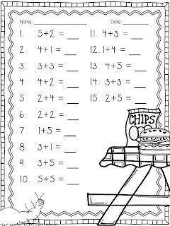 Ant Addition Freebie - 2 simple addition worksheets and 1 word problem center