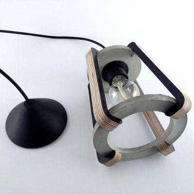 Lampa+wisząca+BETKA+-+naturalnie+szara // Projekt+B25