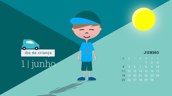 Desktop do Dia da Criança para Junho | MAGAWORKS fez 4 aninhos dia 1 de Junho, o dia da criança, e partilhou 6 desktops para o mês de junho.