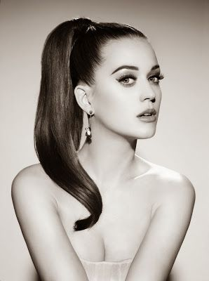 Celebrity style and beauty / karen cox. High Fashion | Models | black and white photography portrait - Delicate Katy Perry