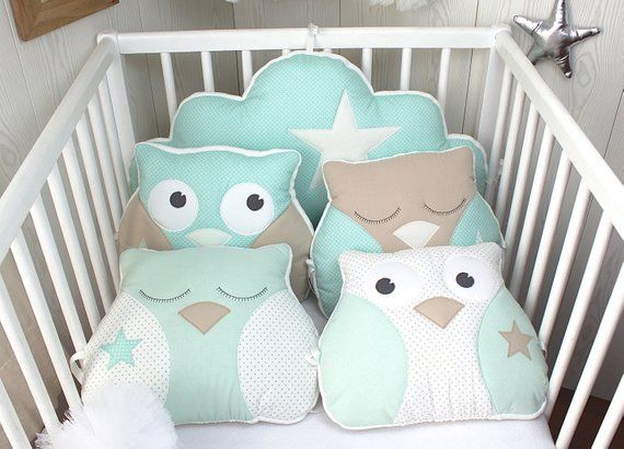 Bumper Baby 60cm Wide Or Child S Room Decoration Owl And Cloud