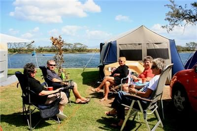 Campers on Waterfront sites