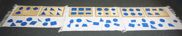 Eventually the child can mix six shapes, with three different sizes per shape.