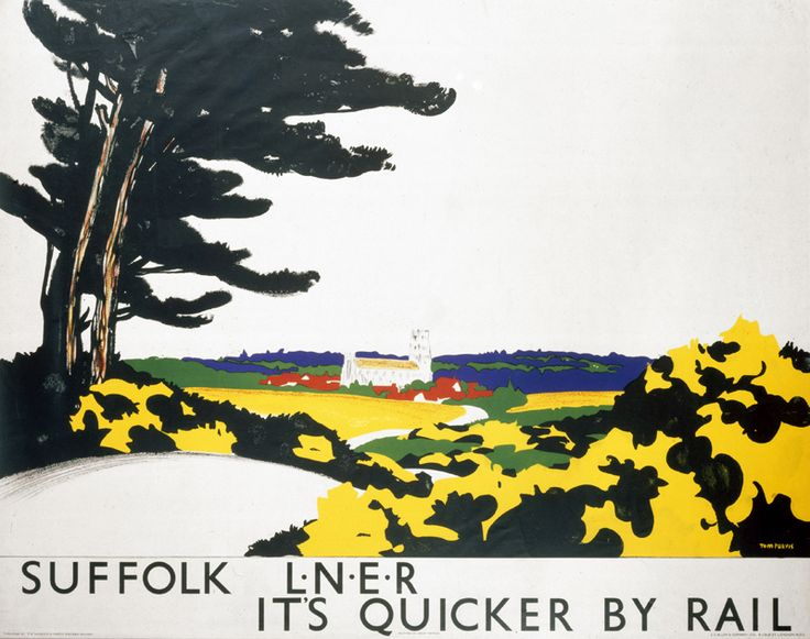 Suffolk -  L.N.E.R. Poster, Tom Purvis