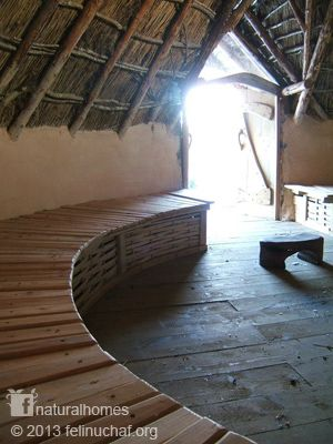 The Celts built their roundhouses from the natural materials available on the land. Sententa's home he shares with other warriors