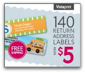 Vistaprint Deals – 140 Personalized Labels Only $5 We have some HOT Deal on Personalized Labels from Vistaprint for you this morning!!! Today Only, you can grab 140 Personalized Labels for onl ...