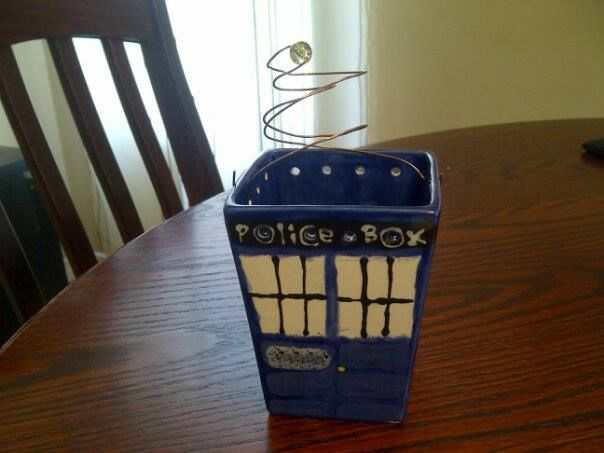 Dr. Who's TARDIS never looked so good!  She came in with a plan and ta-da!