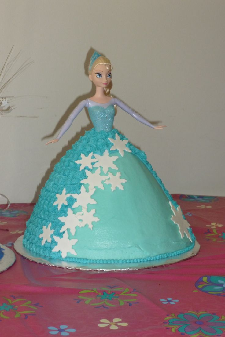 Frozen Barbie Cake Design : 24 best images about Barbie and Frozen doll cakes on Pinterest