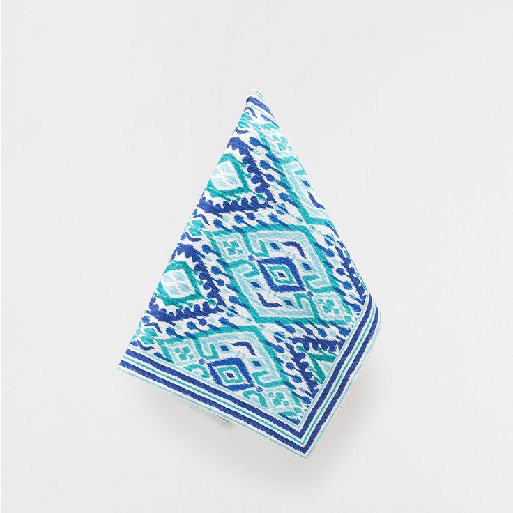 MULTICOLOURED TEA TOWEL - Jaipur Collection - Tableware | Zara Home Spain