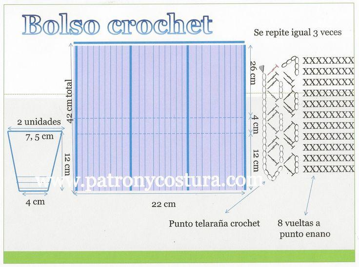 Patrón y costura : bolso a crochet tipo Channel diy.tema 132