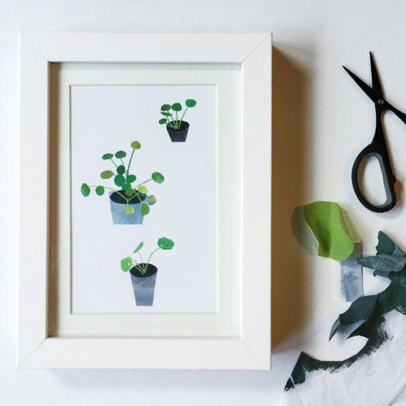 Chinese money plant artprint Open edition by CloverRobin on Etsy