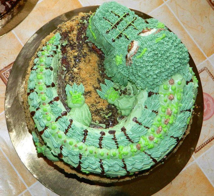 торт крокодил