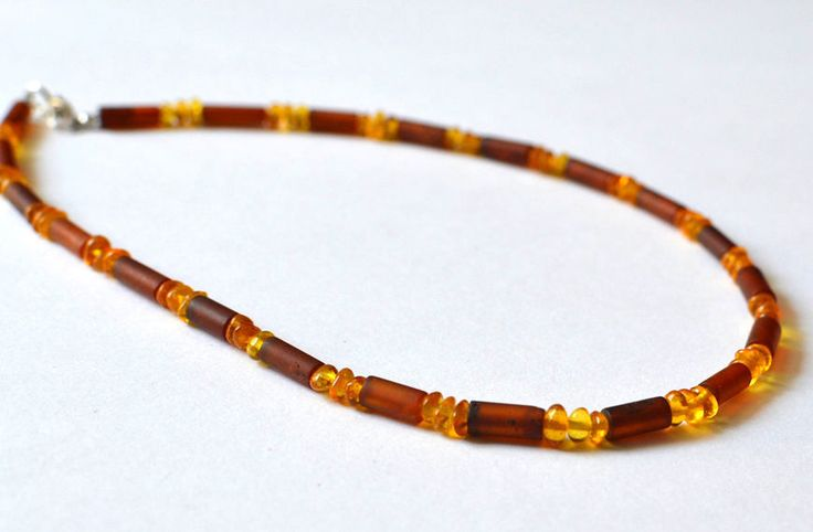 Amber Mens Necklace Men's Jewelry Baltic Amber Men Necklace For Men Gift for Him by KARUBA on Etsy