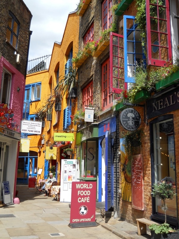 Neal's Yard, a colorful little shopping paradise in the middle of London