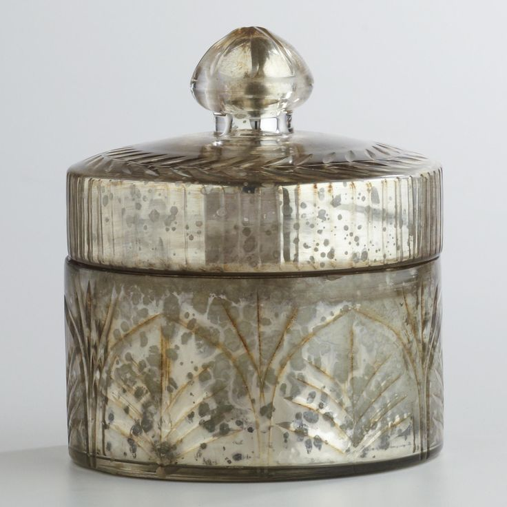 mercury glass - beautiful container