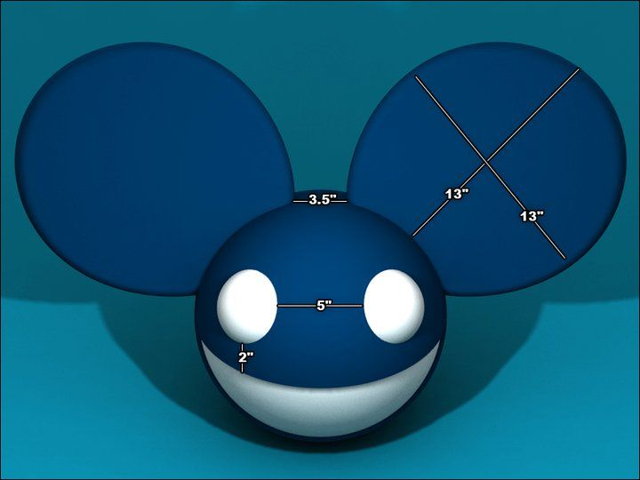 deadmau5 head official dimensions halloween pinterest - Deadmau5 Halloween Head