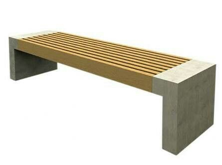 Backless Concrete Bench Seating PAXA By Nola Industrier