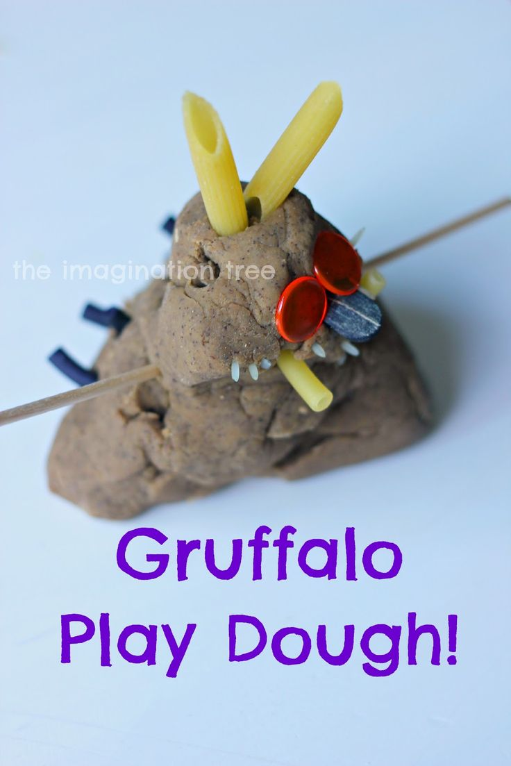 Create a model of the wonderful story book character, The Gruffalo,  using play dough, added materials and imagination! Then use it to retell the story together! You will know by now that we absolutely ADORE play dough. We have tried many different recipes, flavours and textures and have invented a few of our own! We …