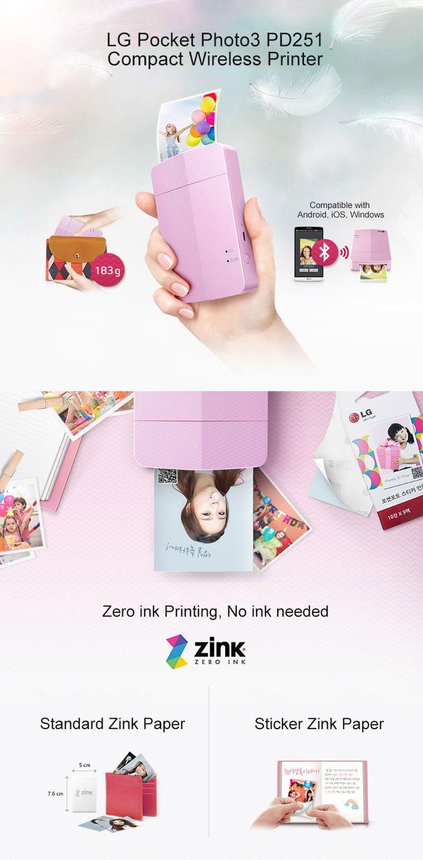 LG Pocket Photo PD251 Portable Printer