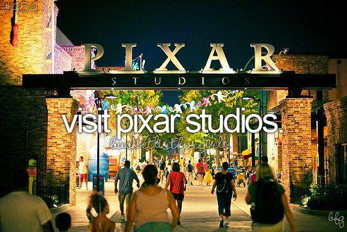 Bucket List:Visit Pixar Studios!