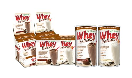 Whey Fantastic -- this might be the best tasting protein powder, it's unbelievably DELICIOUS. Tastes like legit chocolate milk.