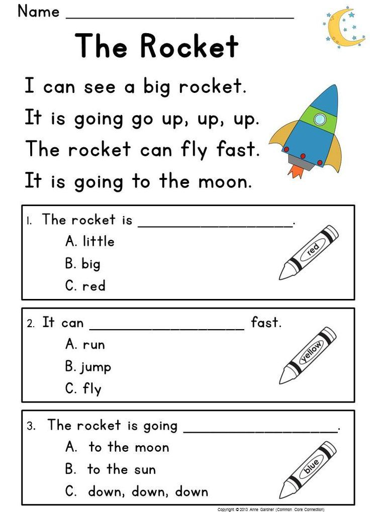 Kindergarten Reading Prehension Passages & Questions