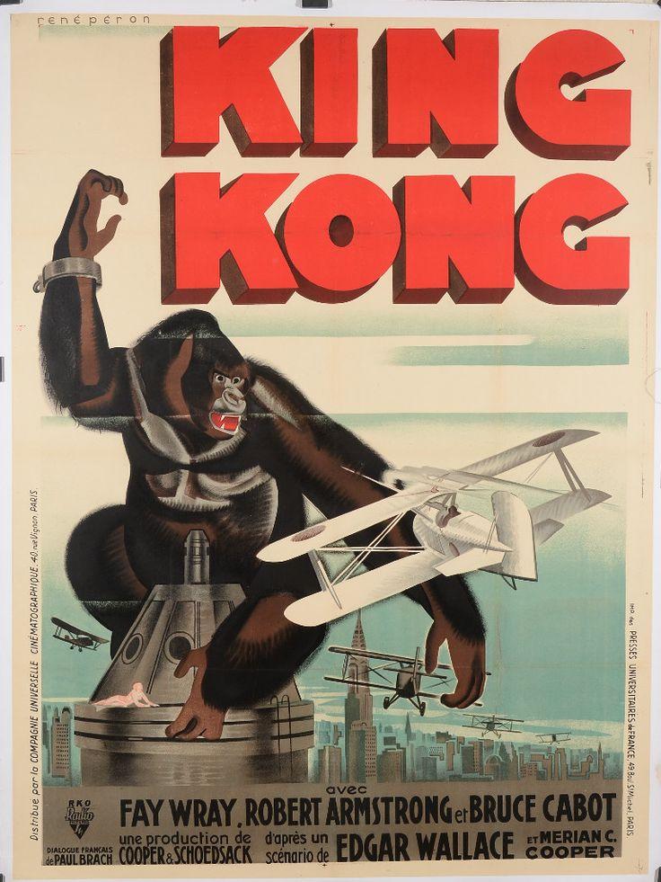 Original King Kong Movie Poster, 1933. Starring Fay Wray