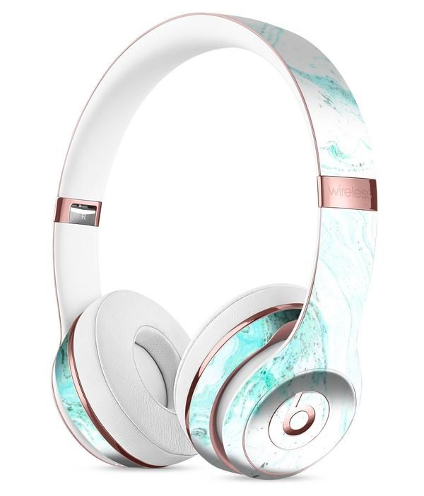 Teal v4 Textured Marble Full-Body Skin Kit for the Beats by Dre Solo 3 Wireless Headphones
