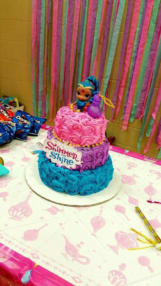 Best 25 Shimmer And Shine Cake Ideas On Pinterest Pink