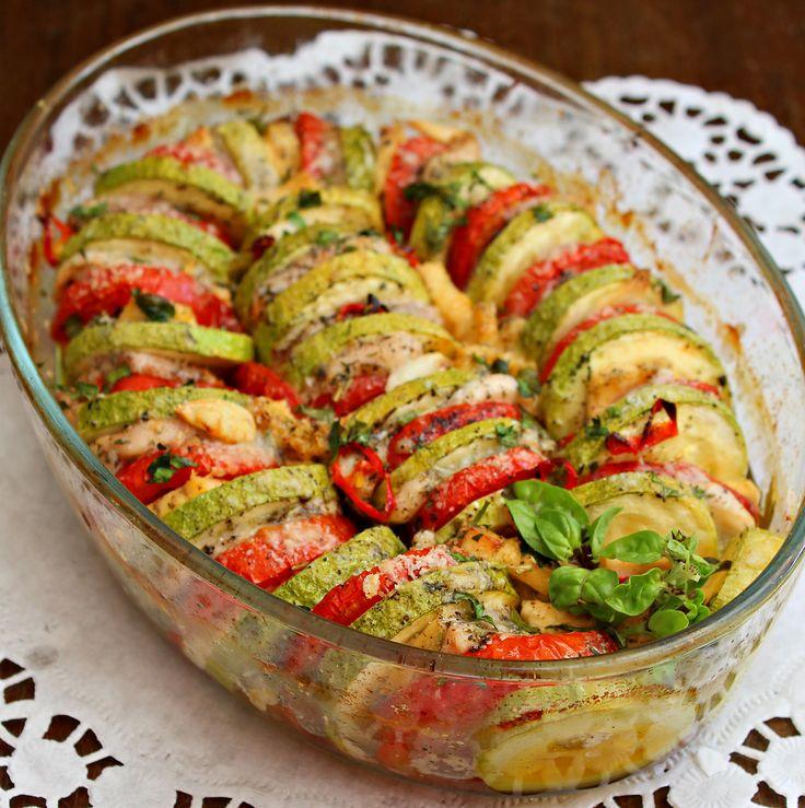 Легкая овощная запеканка с куриной грудкой рецепт с фотографиями