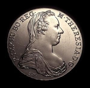 1780 Austria Thaler Maria Theresa Restrike Silver Crown MINT UNC Gorgeous: