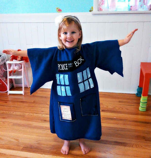 A tiny TARDIS that proves the next Dr. Who should be a lady. | 24 Badass Halloween Costumes To Empower Little Girls