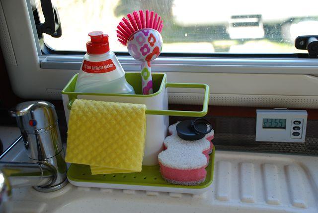 Sanna's RV life-Sannas husbilsliv: #6 Smart and stylish accessories for washing dishe...