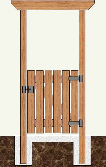Wooden Gate Construction Plans | How To Make A Wood Gate & Gate Posts - Part 2
