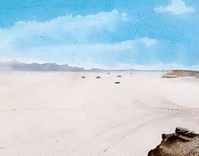 """Check out new work on my @Behance portfolio: """"Watercolor - Salar, Jujuy"""" http://be.net/gallery/40250807/Watercolor-Salar-Jujuy"""